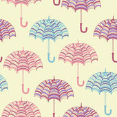 Modèle sans couture avec parapluies mignons. illustration vectorielle. — Vecteur