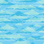 бесшовный фон с облака - векторные иллюстрации. — Cтоковый вектор