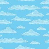 Naadloze achtergrond met wolken - vectorillustratie. — Stockvector