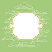Frame mit hintergrund aus wolken - vektor-illustration. — Stockvektor