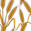 Abstract textured wheat field. Seamless pattern. Vector. — Stock Vector