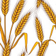 Abstract textured wheat field. Seamless pattern. Vector. - Векторная иллюстрация