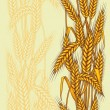 Abstract textured wheat field. Seamless pattern. Vector. - Stock Vector