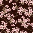Cherry blossom vector background. (Seamless flowers pattern) — Stock Vector #10303239