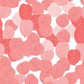 Seamless pattern of pink flower petals. Vector illustranion. — Stock Vector