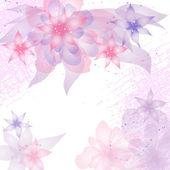 Karte oder einladung mit floral abstrakt. — Stockvektor