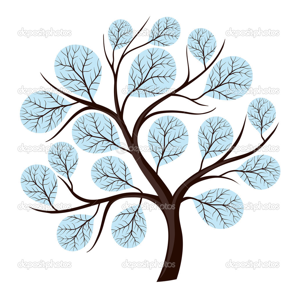 Abstract vector tree for the season isolated on white. — Stock Vector #10467883