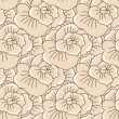 Vector background with hand drawn flowers. (Seamless Pattern) — Векторная иллюстрация