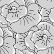Vector background with hand drawn flowers. (Seamless Pattern) — Image vectorielle