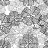 Vector illustration of abstract clover. (Seamless Pattern) — Stock vektor