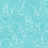 Vector seamless abstract pattern with waves and cloud. — Stock Vector