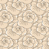 Vector background with hand drawn flowers. (Seamless Pattern) — Wektor stockowy