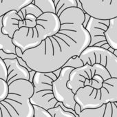 Vector background with hand drawn flowers. (Seamless Pattern) — Stockvektor