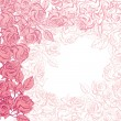 Floral background with pink roses. Vector illustration. — Stock Vector #10660521