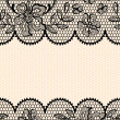 Old lace background, ornamental flowers. Vector texture. — Stock Vector #10660630
