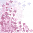Vector background for design with flowers of lilac. - Stock Vector