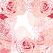 Floral background with pink roses. Vector illustration. — Stock Vector #10660927