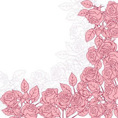 Floral background with pink roses. Vector illustration. — Stock Vector