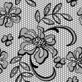 Old lace background, ornamental flowers. Vector texture. — Stock Vector