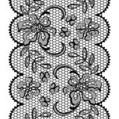 Old lace background, ornamental flowers. Vector texture. — Stockvektor