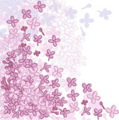 Vector background for design with flowers of lilac. — Stock Vector