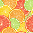 Stock Vector: Abstract color background with citrus-fruit of grapefruit, orang