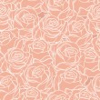 Seamless abstract background with roses — Stock Vector