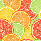 Abstract color background with citrus-fruit of grapefruit, orang — Stock Vector