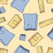 Bezszwowe torby wzór. wektor — Wektor stockowy