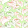 Vector leaves. (Seamless Pattern) — Stock Vector