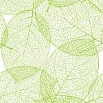 Fresh green leaves background - vector illustration — Stock Vector