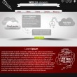 Web Design Website Elements. vector  Template — Vettoriali Stock