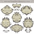 Royalty-Free Stock Vector Image: Vector set: vintage labels - inspired by floral retro originals