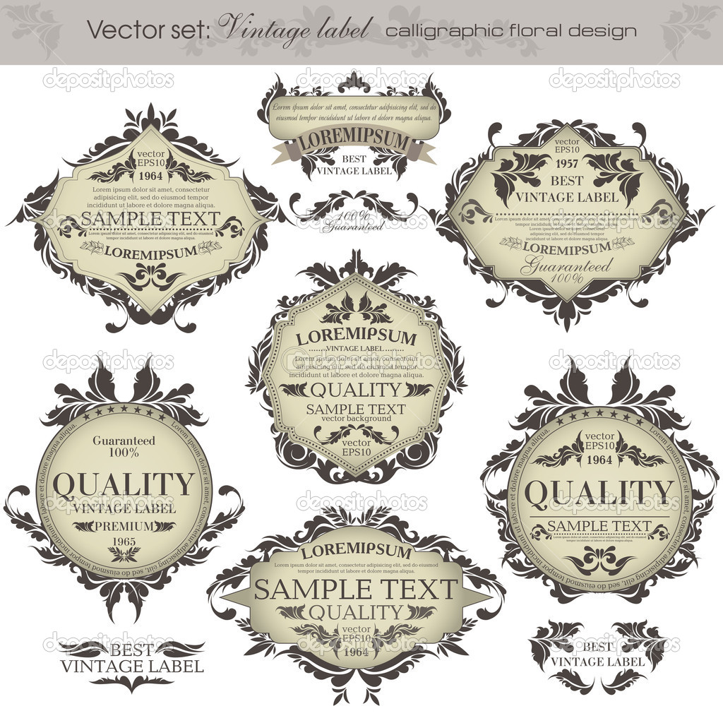 Vintage Retro Labels Vector on 1038 html