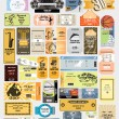 Big set: tickets in different styles. Vector. — Stock Vector #9856440