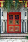 Unique red doors — Stock Photo