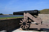 Cannon on ramparts — Stock Photo