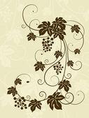 Grape vine silhouette. — Stock Vector