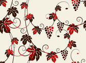 Grapevines seamless background. — Stock Vector