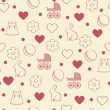 Royalty-Free Stock Vector Image: Seamless girly background.