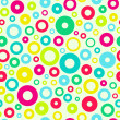 Seamless multicolored rings abstract background. — Stock Vector