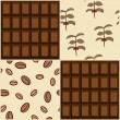 Coffee and chocolate design. Seamless backgrounds. — Stock Vector