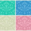 Classic ornate seamless backgrounds set. — Stock Vector #9767986