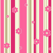 Abstract background with strips and flowers. — Stock Vector