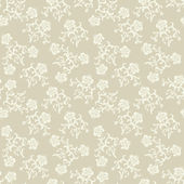 Seamless beige flowers background. — Stock Vector