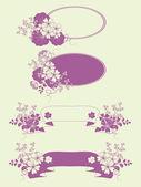 Garden flowers and herbs banners. — Stock Vector