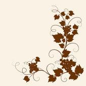 Grape vine brown silhouette. — Stock Vector