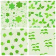 Stock Vector: Green seamless backgrounds set.