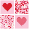 Seamless backgrounds and hearts design. — Stock Vector