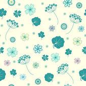 Trädgård blommor och örter sömlös bakgrund. — Stockvektor